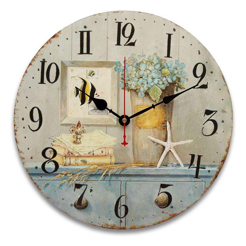 34cm relojes de pared de la vendimia antigua cocina de estilo retro ...