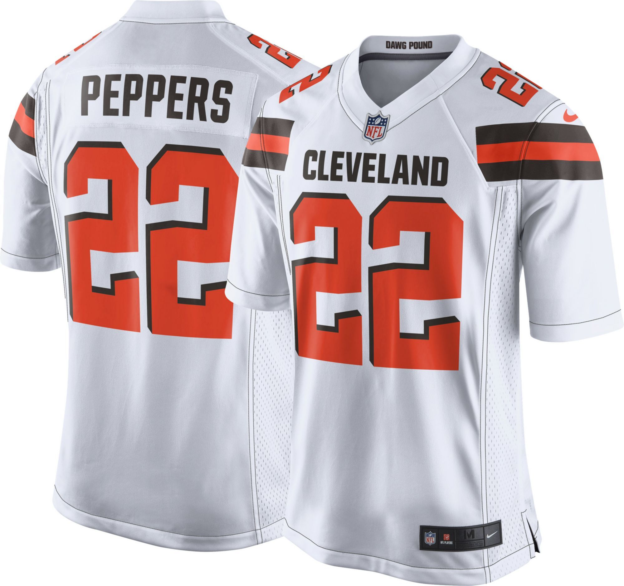 half off 68f69 b698d Nike Men's Away Game Jersey Cleveland Browns Jabrill Peppers ...