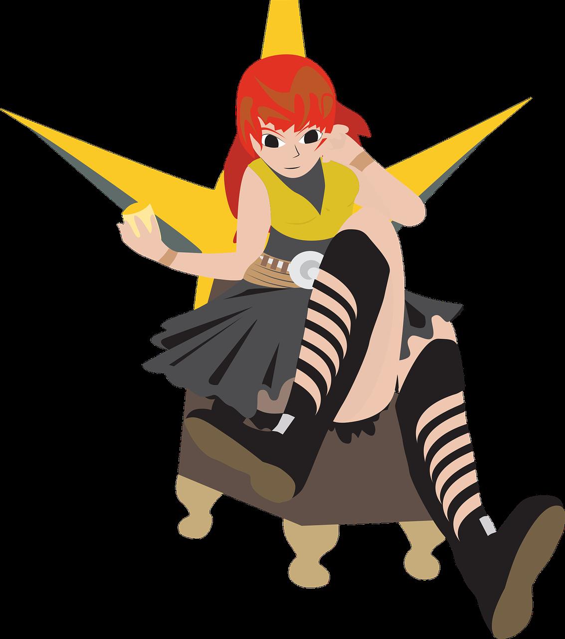 Free image on pixabay girl sitting on a throne photo
