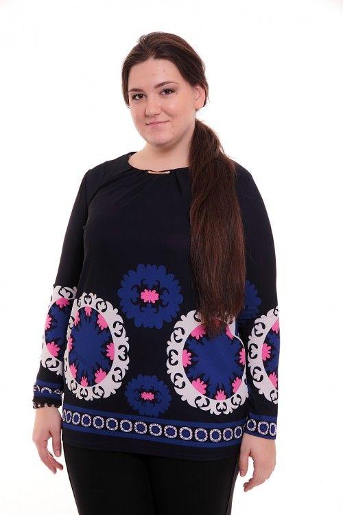 Туника А2334 Размеры: 50,52,54 Цвет: черный Цена: 420 руб.  http://optom24.ru/tunika-a2334/  #одежда #женщинам #туники #оптом24