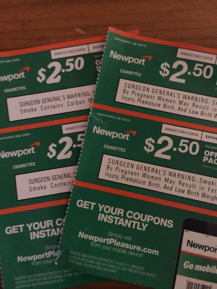4 Newport cigarette Coupons/savings- EXPIRES 1/31 Save $10