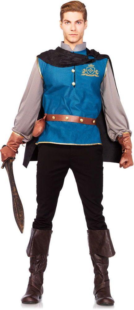 disneys prince charming knight armor handsome prince mens halloween costume legavenue completecostume - Prince Charming Halloween Costumes