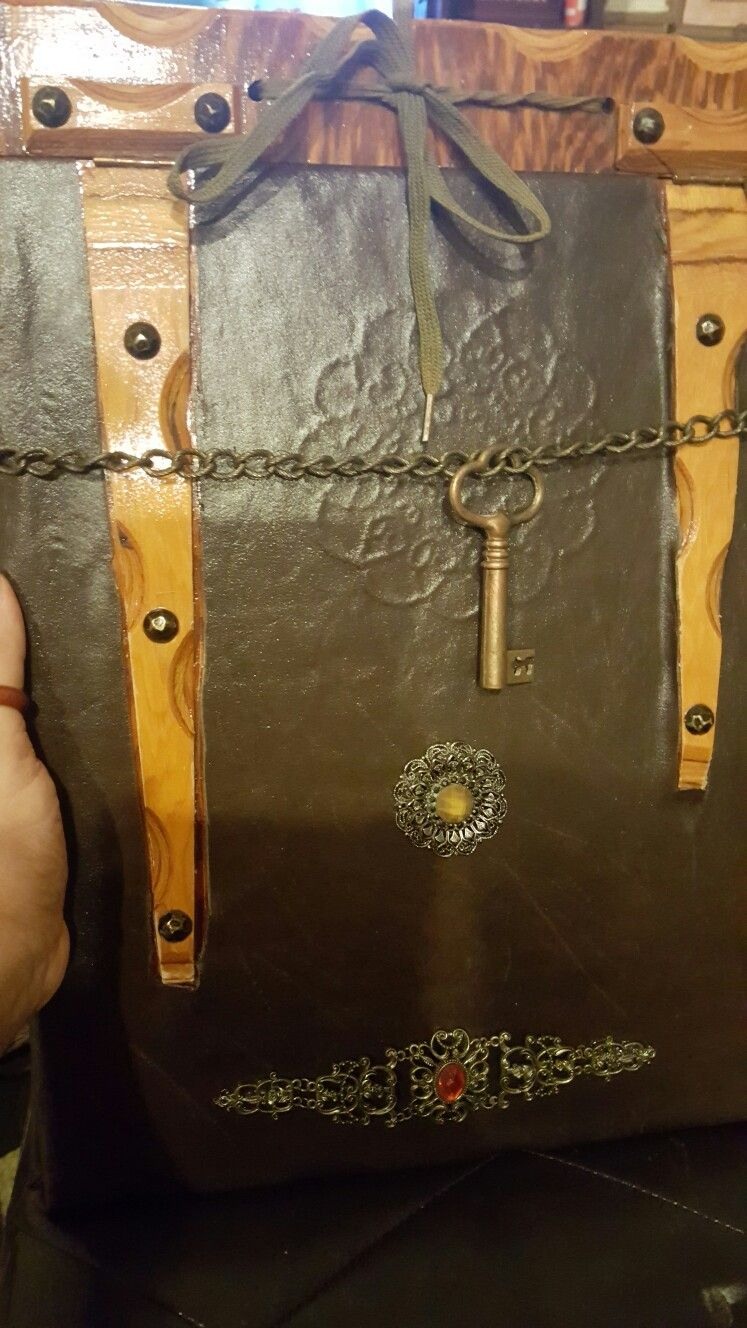 My Ancient Art Portfolio book  Made from wood, an old