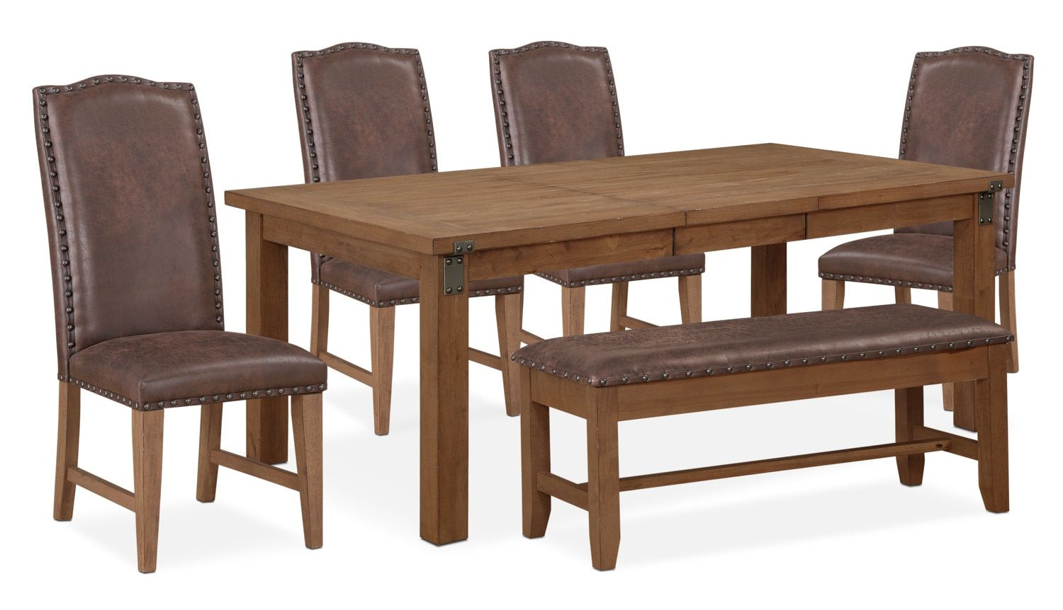 Terrific Hampton Dining Table 4 Upholstered Side Chairs And Storage Ibusinesslaw Wood Chair Design Ideas Ibusinesslaworg