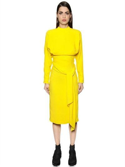 e1694bd2fe2 SALVATORE FERRAGAMO Open Back Light Crepe Sable Dress
