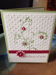 Thinking Of You Stampin' Up card made to order #stampinup!cards