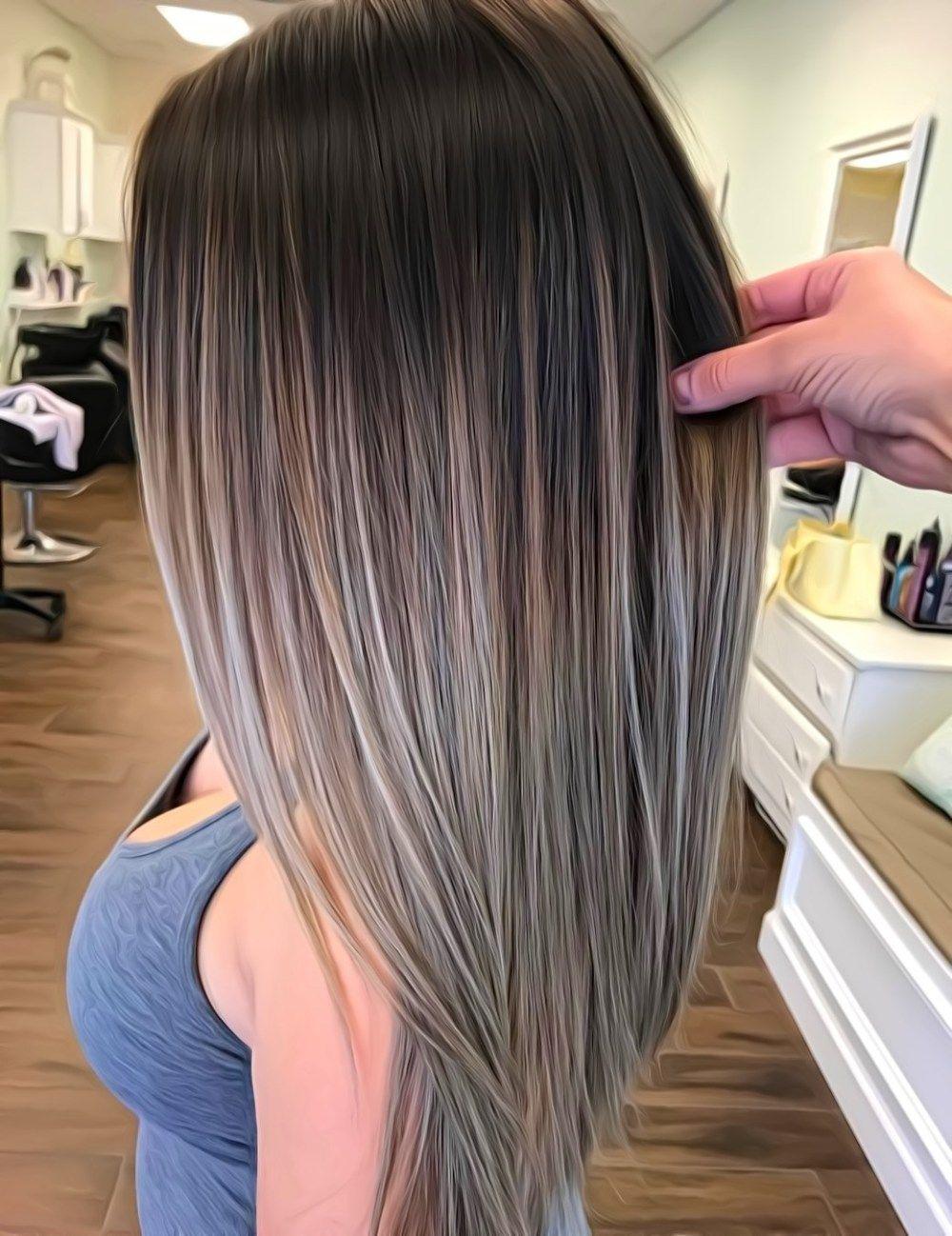 70 Flattering Balayage Hair Color Ideas For 2020 Balayage Straight Hair Gray Balayage Brown Ombre Hair