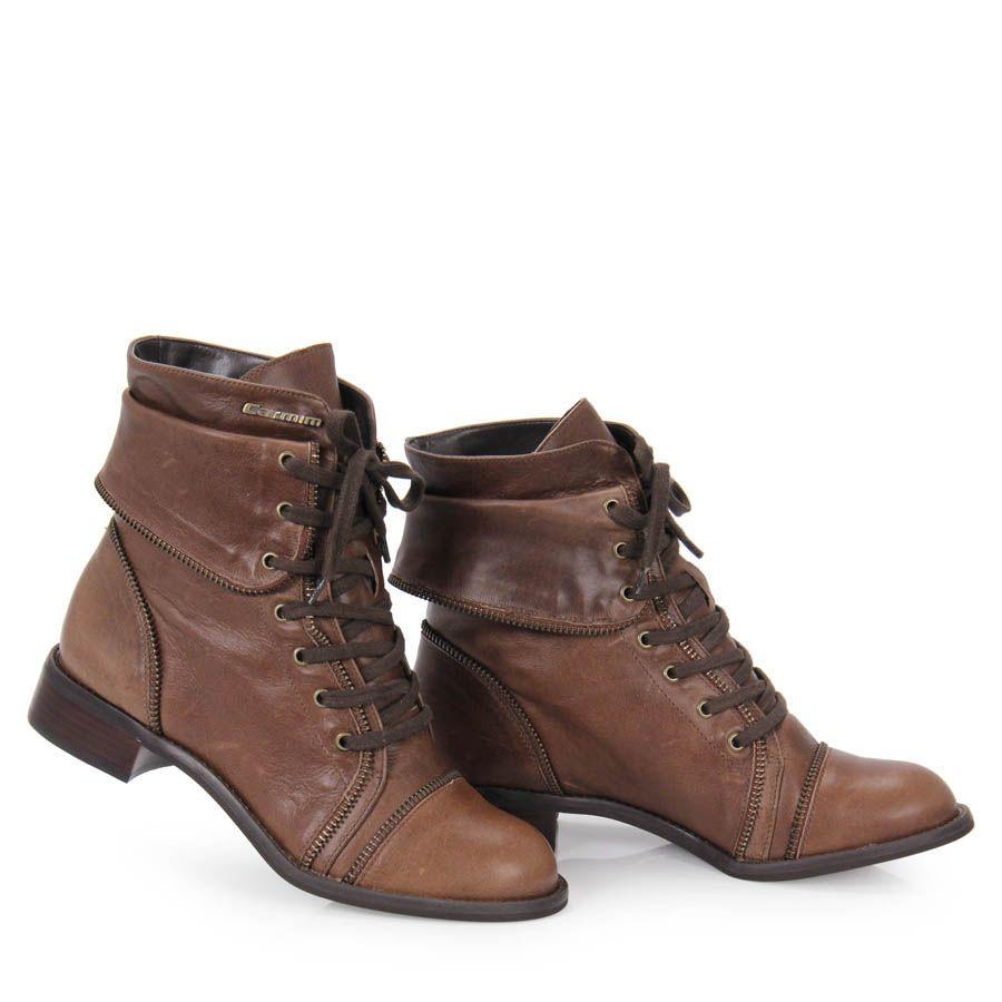 223122f47a Coturno Feminino Carmim 0023328 - Cafe - Passarela Calçados