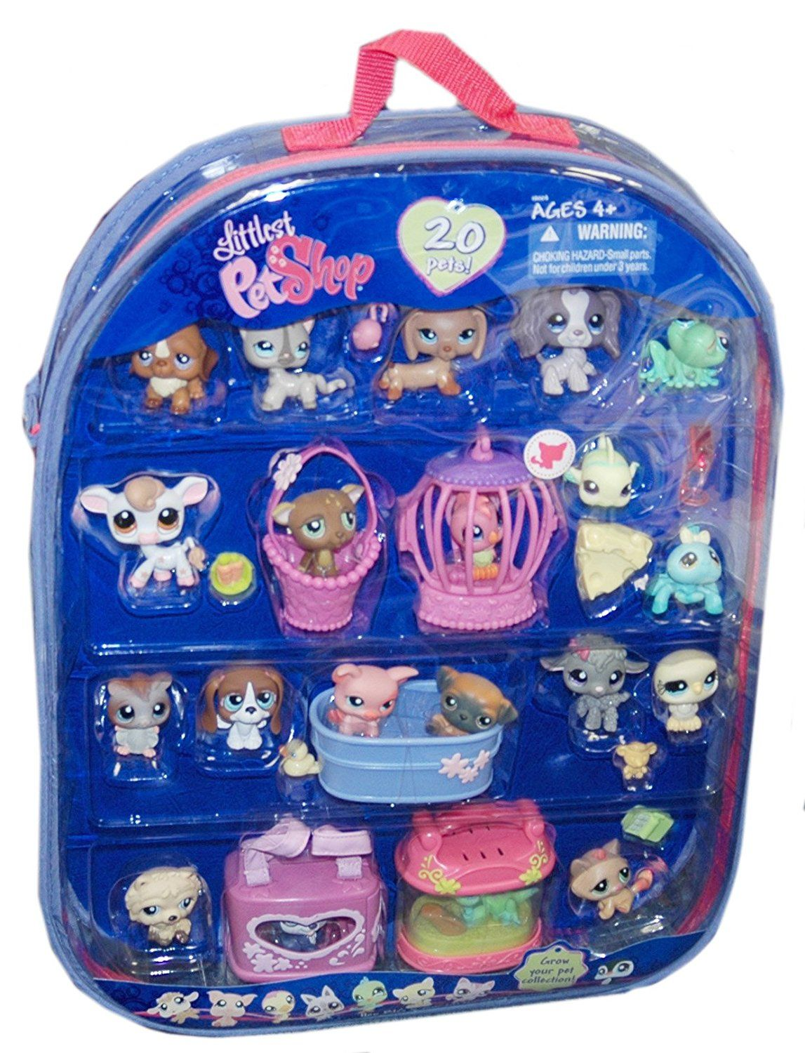 Amazon Com Littlest Pet Shop Exclusive 20 Pet Set 20 Pets Accessories Carry Case Toys Games Lps Toys Pet Shop Lps Pets