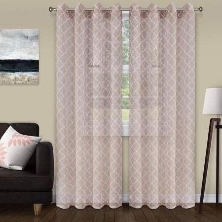 Home Sheer Curtain Panels Panel