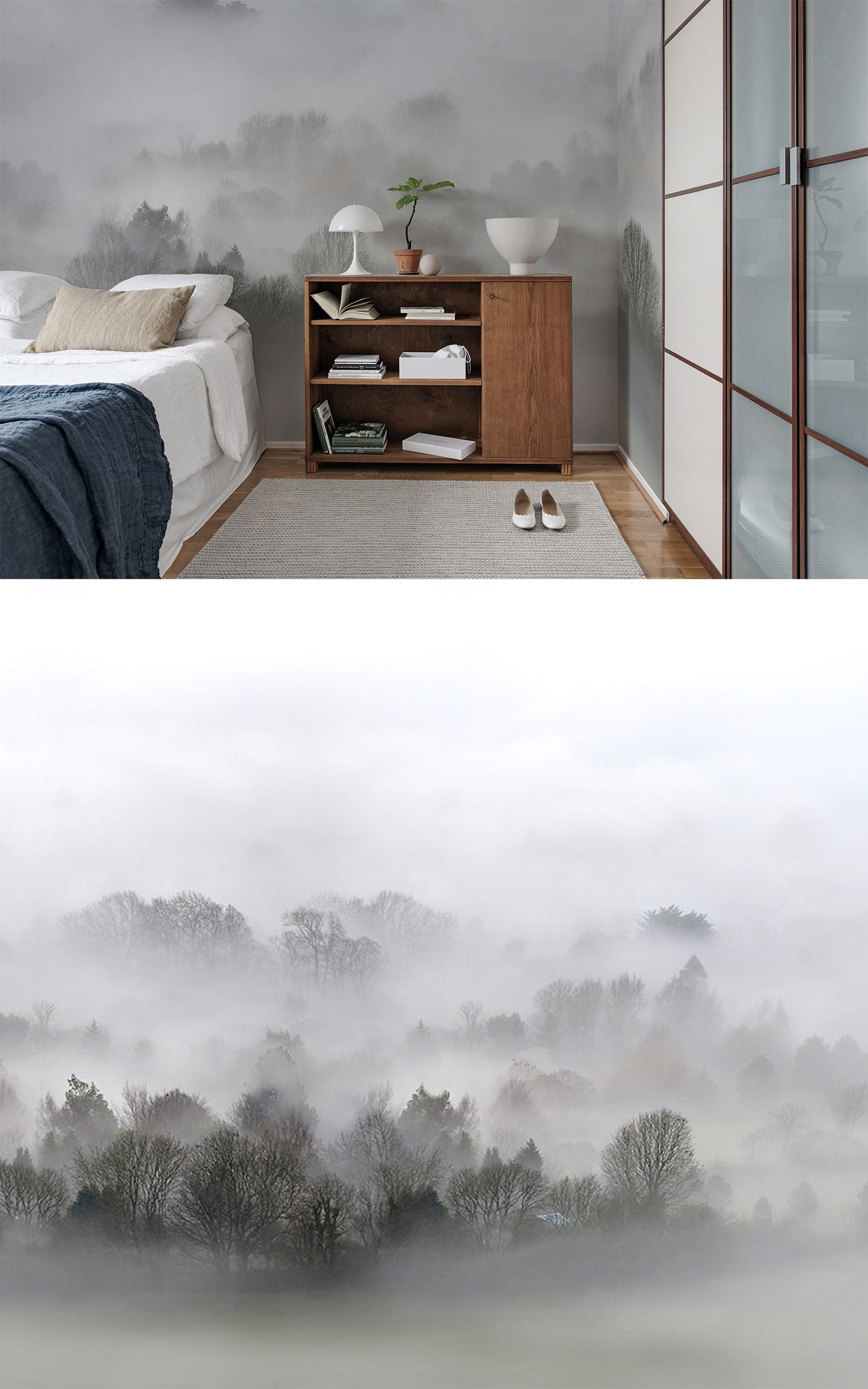 morning fog in 2019 tapeten f r 39 s schlafzimmer pinterest. Black Bedroom Furniture Sets. Home Design Ideas
