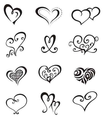 Girly tattoos simple heart tattoos easy tattoos and for Girly drawings step by step