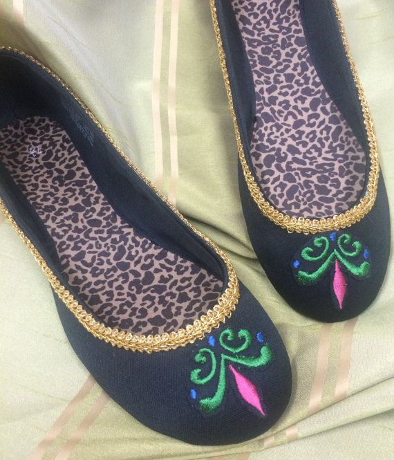 ce85eed4361 Frozen Embroidered Anna Elsa Coronation Shoes by RoyalEnchantments Disney  Princess Costumes