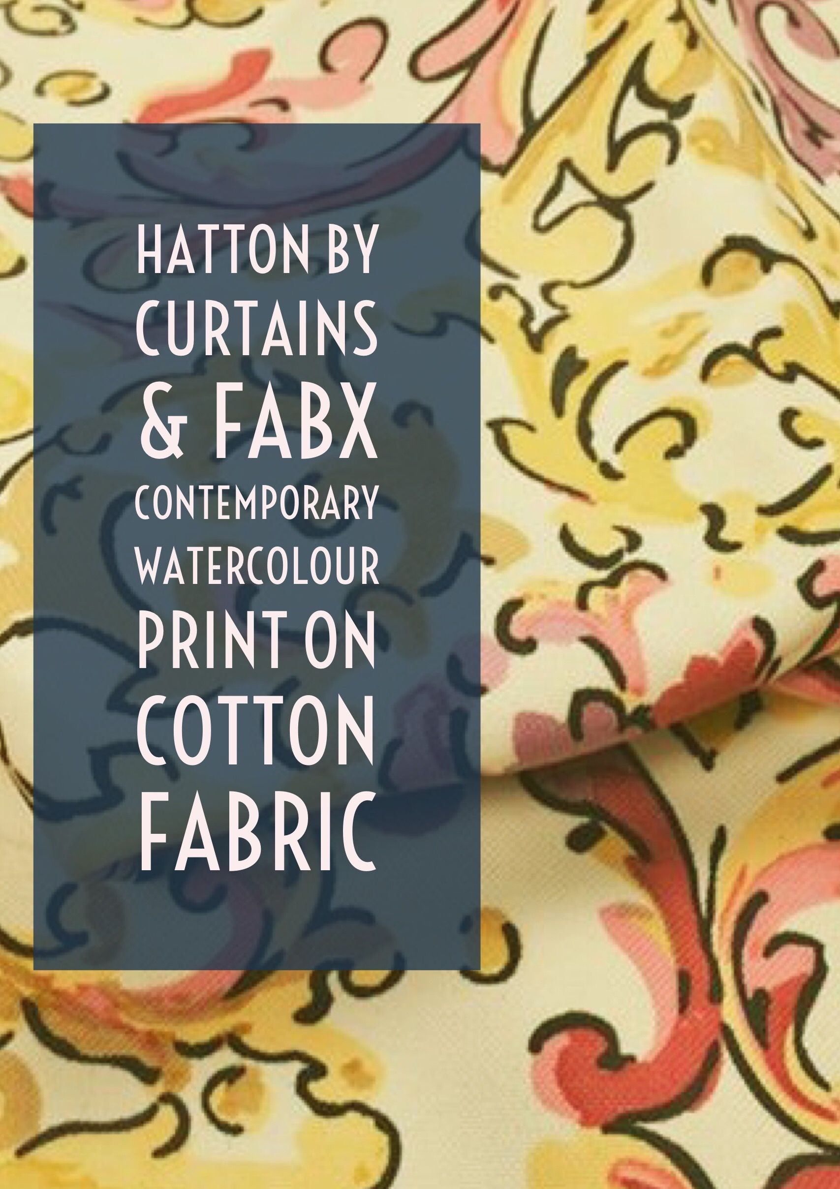 Hatton | By Curtains & Fabx: A beautiful watercolour style print ...