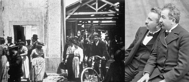 19 mars 1895 - VIDÉO. Tournage de la première des trois versions de La sortie des usines Lumière.
