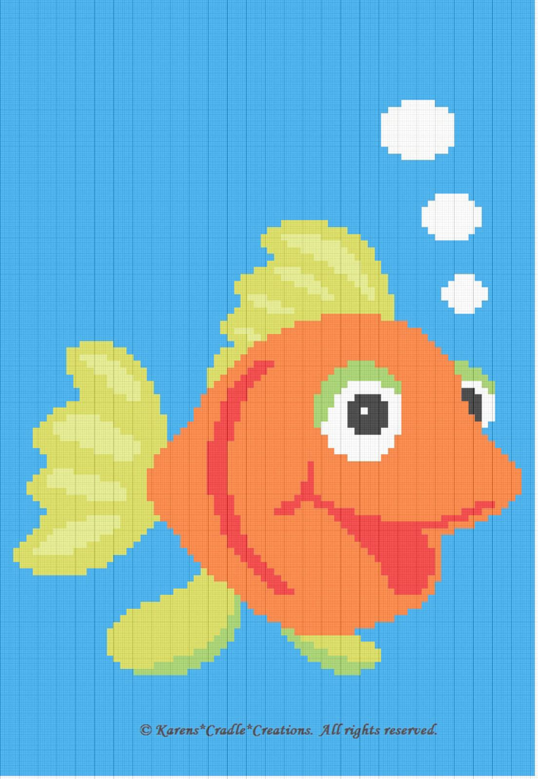 GOLDFISH BABY AFGHAN PATTERN *EASY* Crochet Patterns