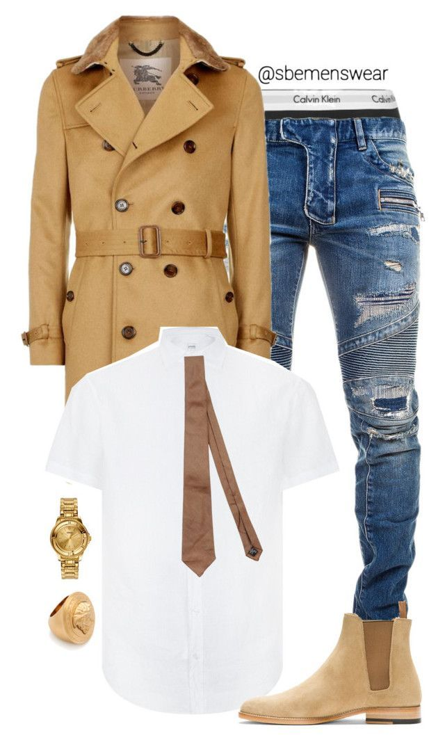 """Gentleman"" by efiaeemnxo ❤ liked on Polyvore featuring Calvin Klein Underwear, Balmain, Burberry, Armani Collezioni, Versus, Versace, Yves Saint Laurent, Dsquared2, men's fashion and menswear"