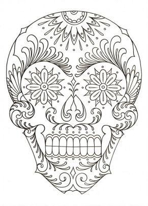 Calavera Skull Coloring Pages Coloring Pages Sugar Skull Art