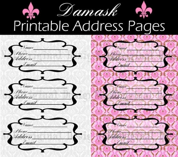 Printable Address Book Pages  Creating A Planner