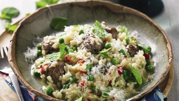 recipe: meatball risotto with chilli & mint   wine recipes