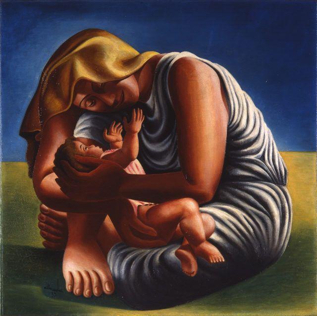 José Sobral de Almada-Negreiros - Maternity, 1935