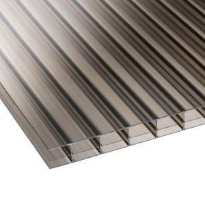 Bronze Polycarbonate Multiwall Roofing Sheet 3m X 1050mm Pack Of 5 Roofing Sheets