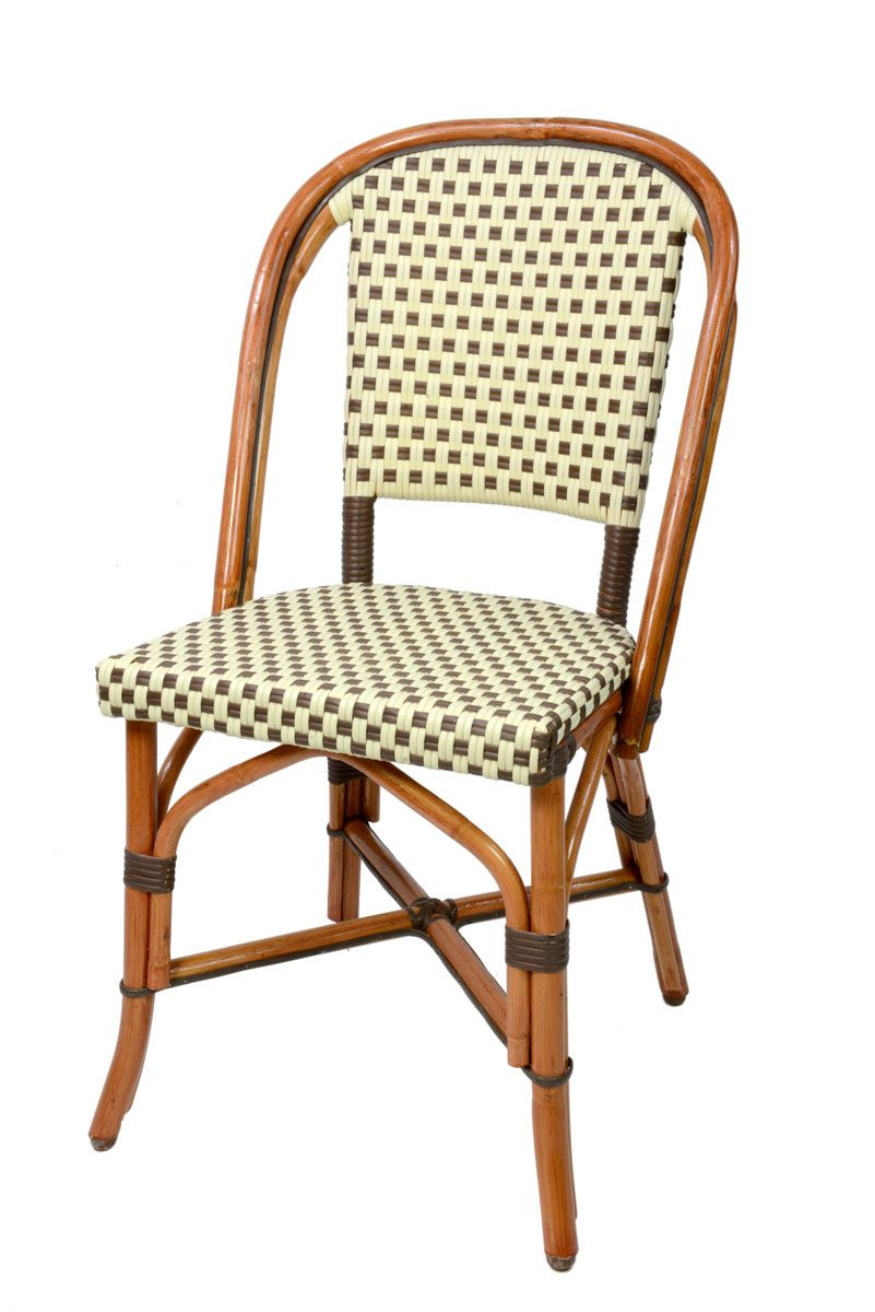 French Cafe Chairs Woven glac seat french bistro chair beige