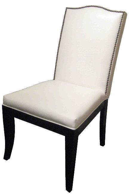 Super Carson Camel Back Dining Chair In Faux White Leather Home Unemploymentrelief Wooden Chair Designs For Living Room Unemploymentrelieforg