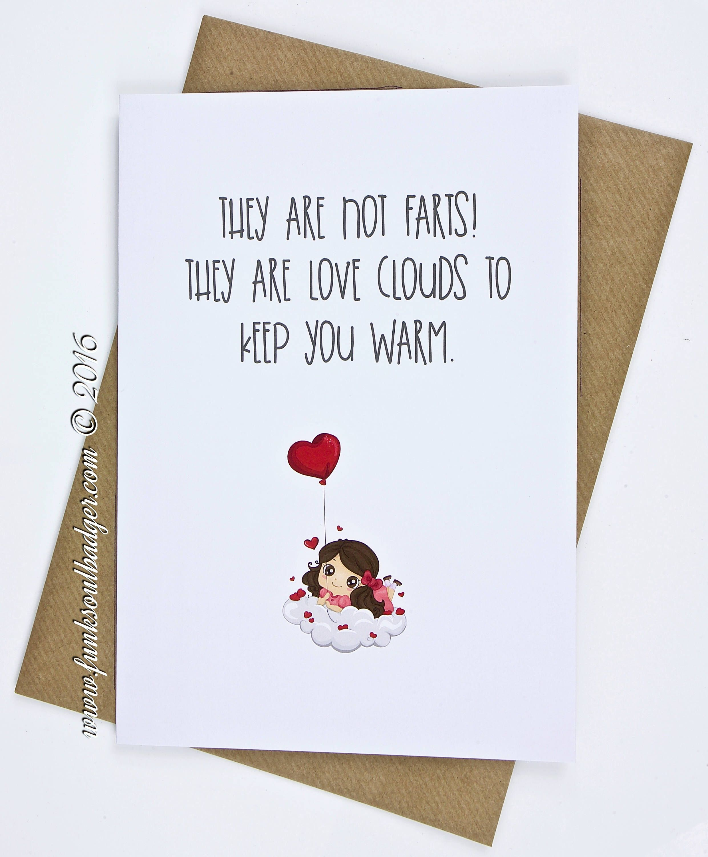 Funny Love Card They Are Not Farts With Images Funny
