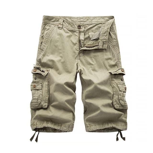 9d3e3bc1ee New 2018 Mens Cargo Shorts Casual Loose Short Pants Military Combat ...