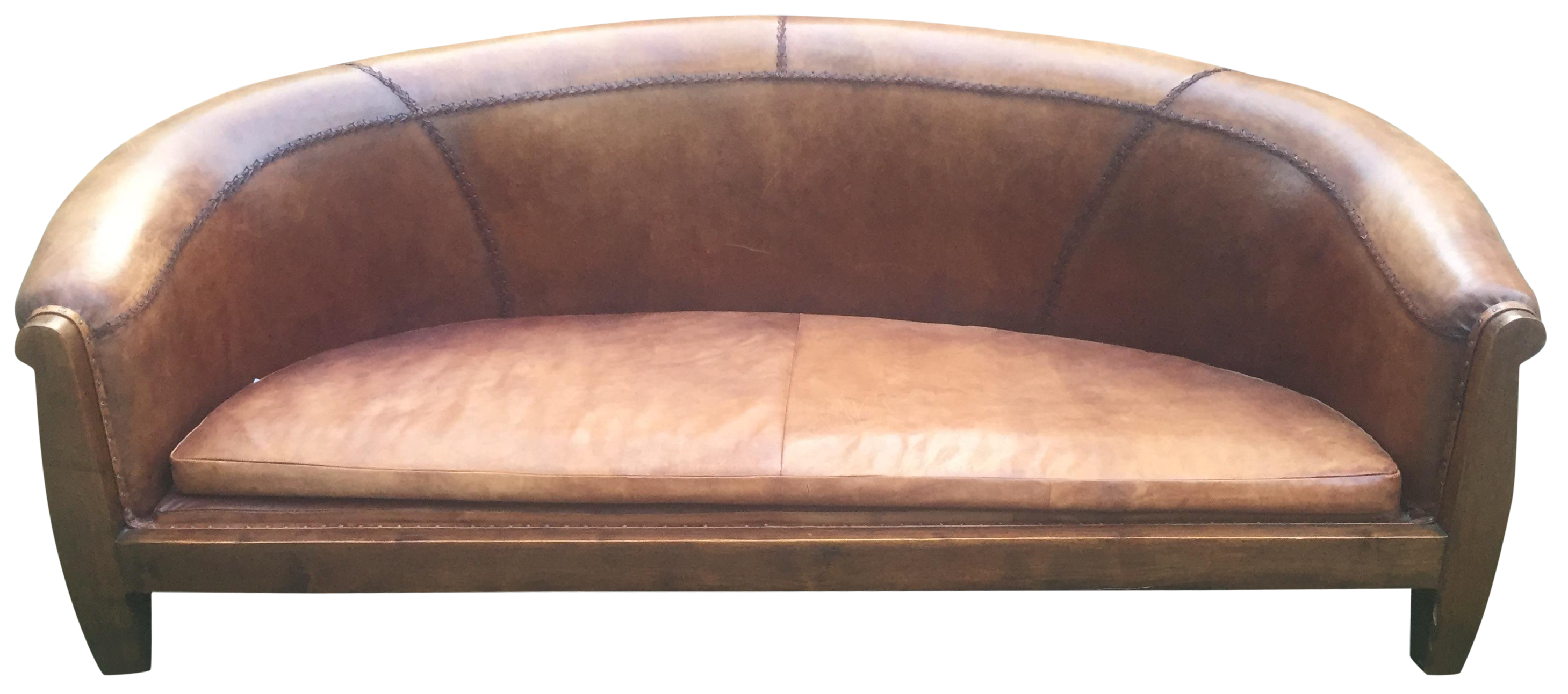 South Asian Leather Sofa On Chairish Com Leather Sofa Chair Decor