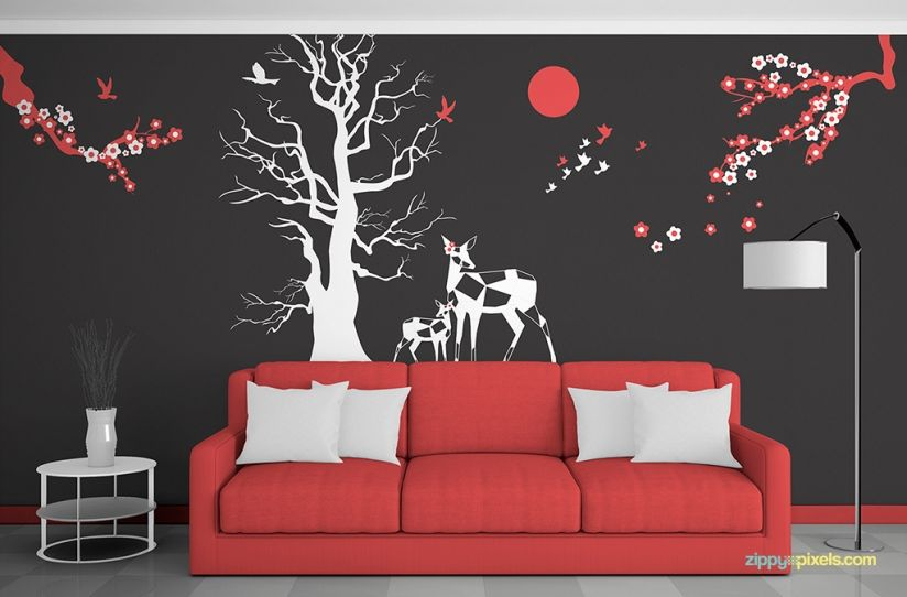 Mockups For Decor Interior Wall Art Designs Free Wall