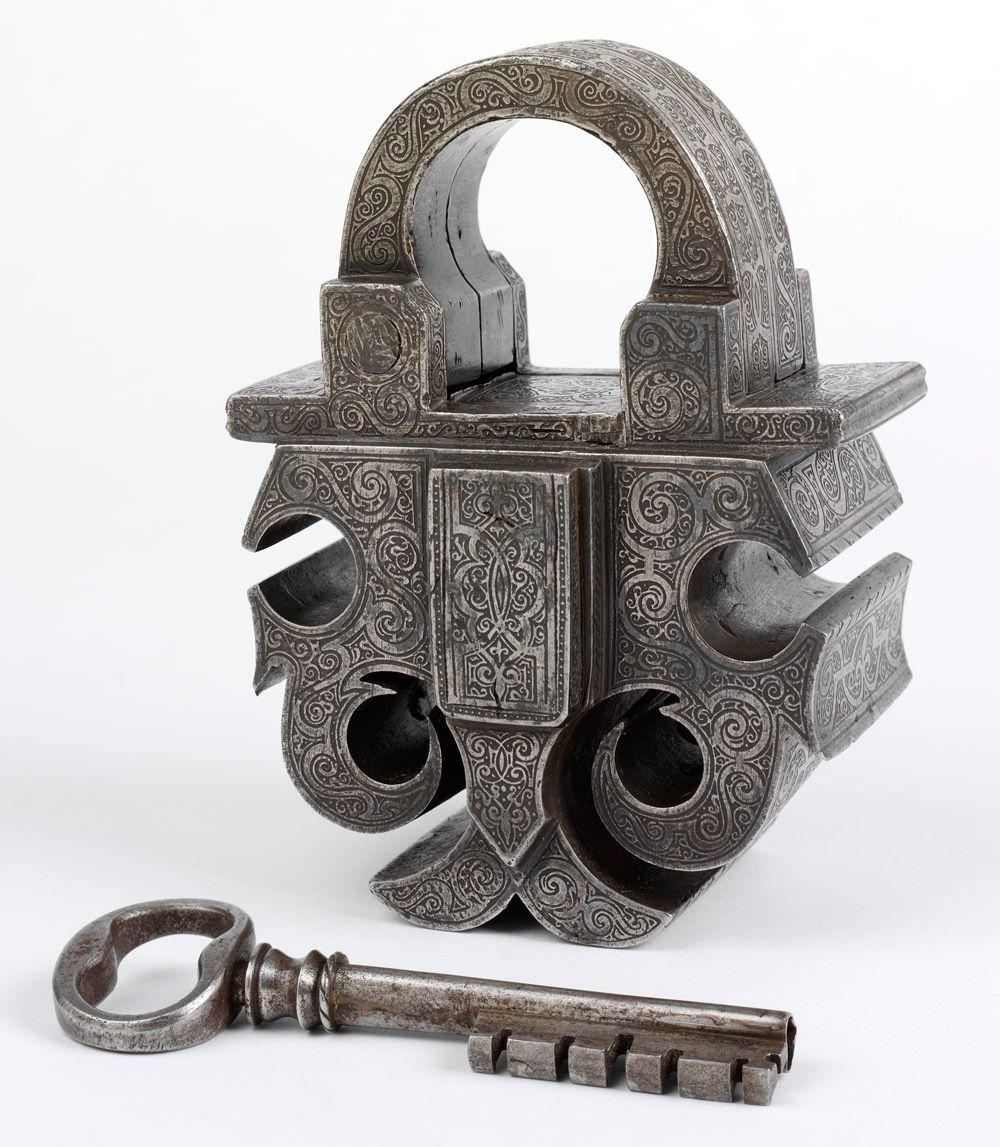 Old German Padlock And Key Antique Keys Old Keys Vintage Keys