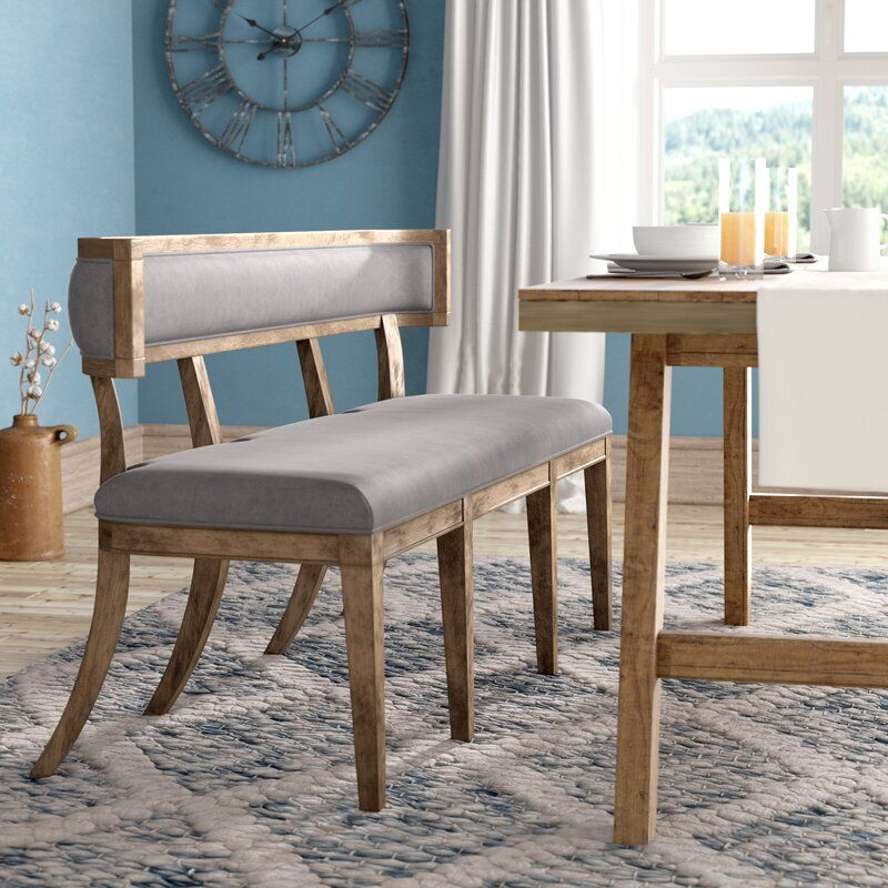 Abbigail Upholstered Bench With Images Dining Table Design