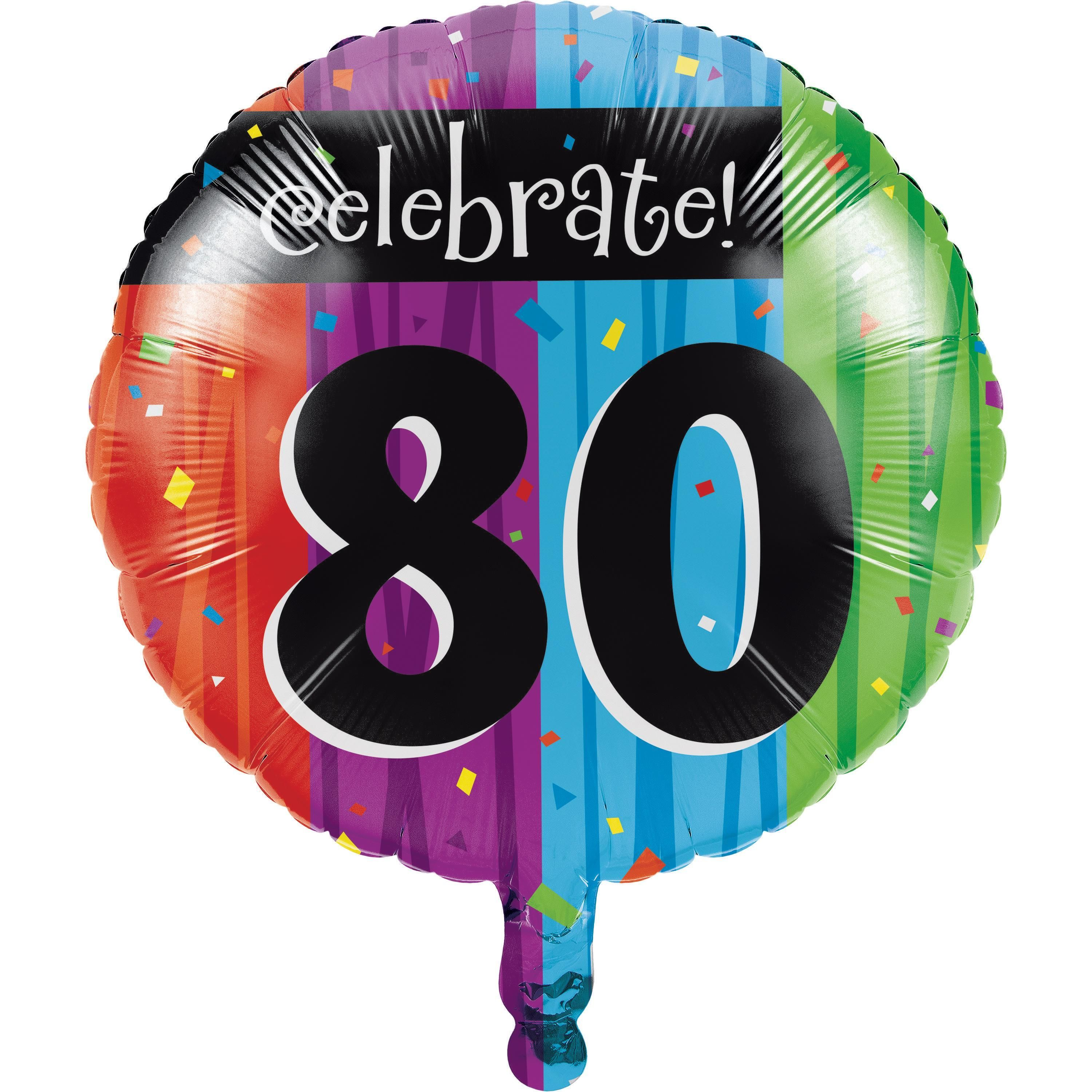 DECORATION AGE 80-80th  BIRTHDAY TABLE CENTREPIECE FOIL BALLOON DISPLAY