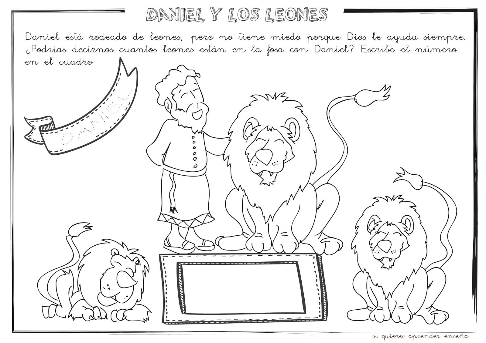 Encantador Daniel En La Guarida De Los Leones Para Colorear ...