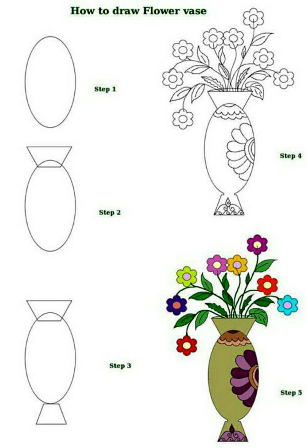 Pin By Allan Santana On Doodles In 2020 Flower Drawing Flower Vase Drawing Simple Flower Drawing