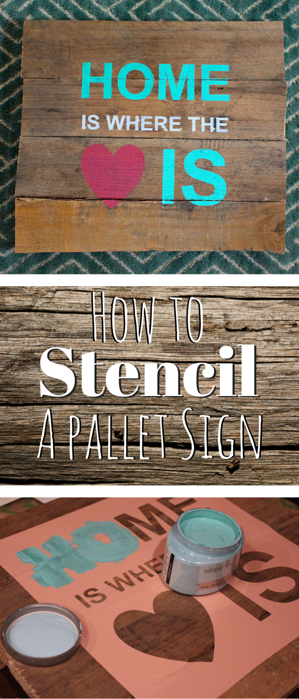 DIY How to stencil a pallet sign
