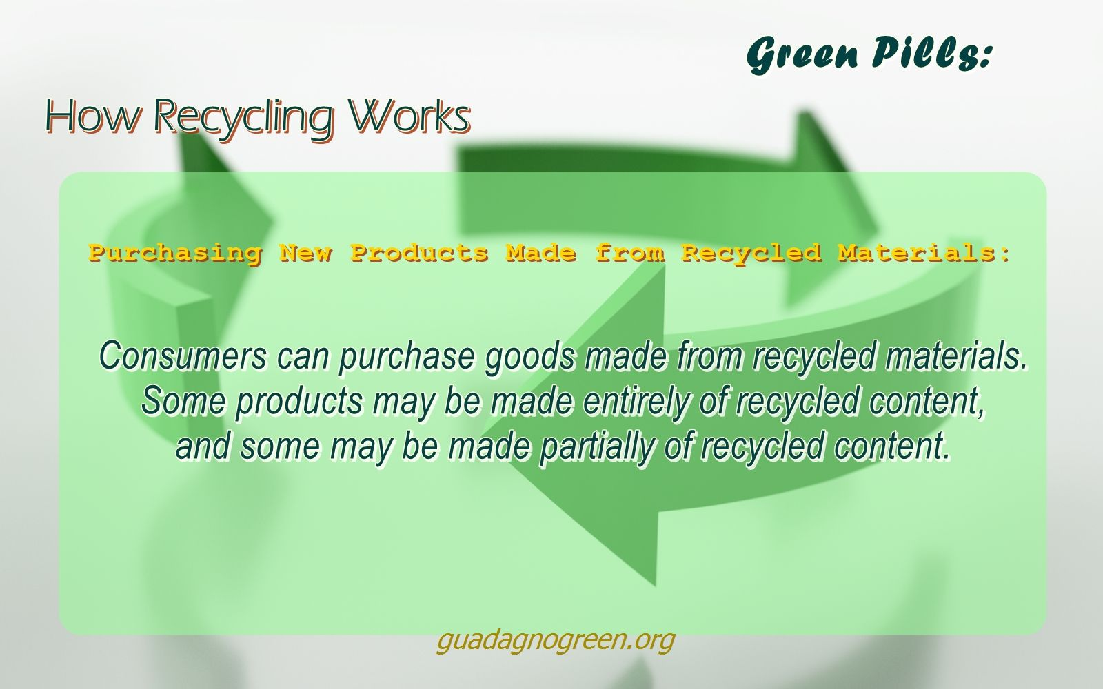 How Recycling Works: Stage 3 - Purchasing New Products Made from Recycled Plastic