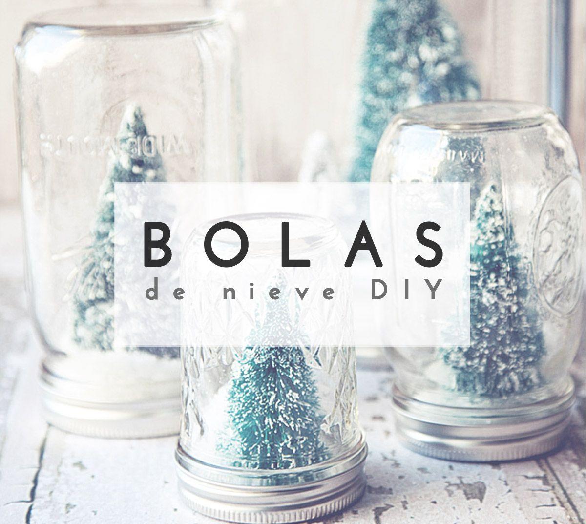 Crea tu propia bola de nieve diy con tarros de cristal - Bola nieve cristal ...