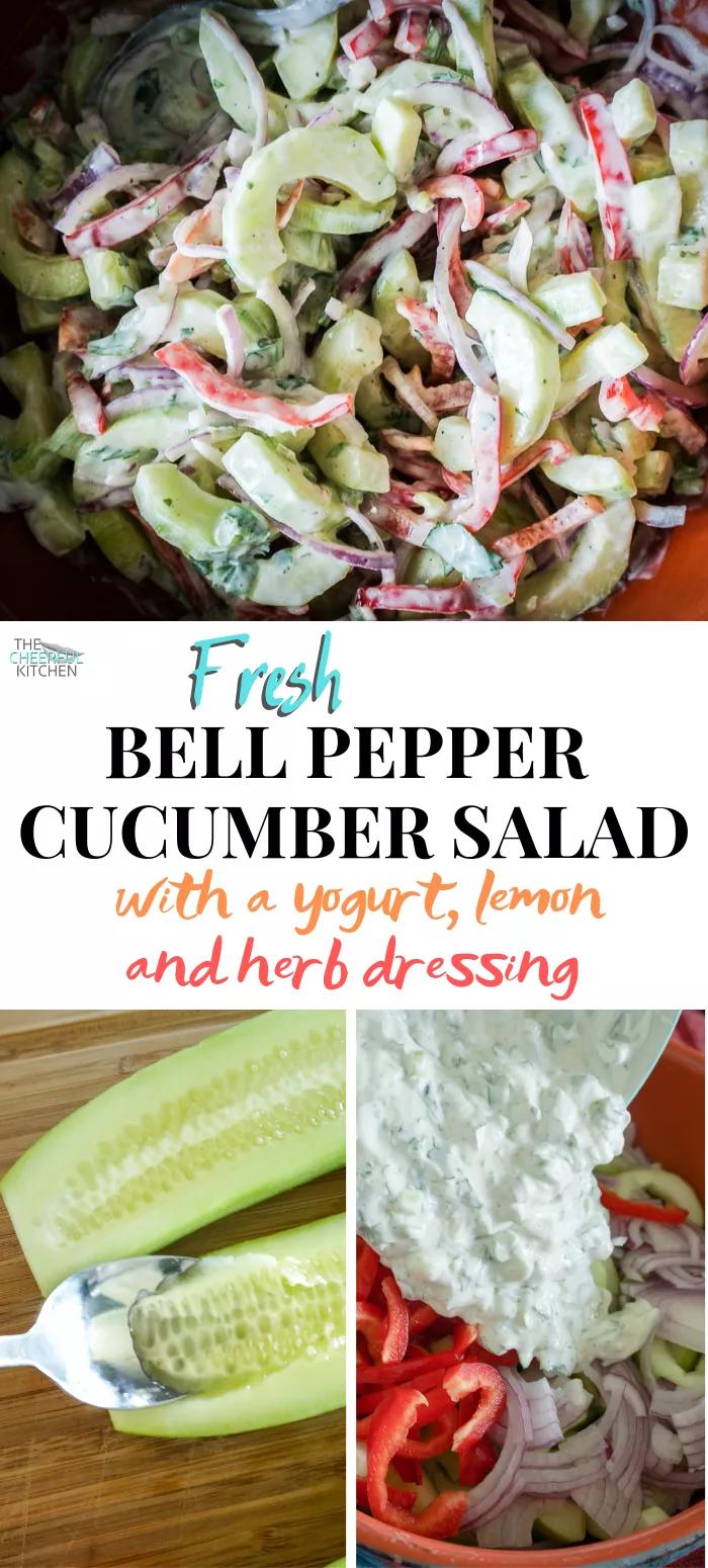 Fresh Bell Pepper Cucumber Salad