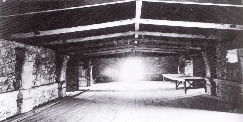 A rarely seen photo of the second story inside the church