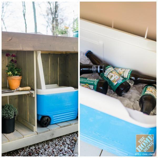 We love this DIY outdoor bar by blogger Caitlin Moran ...