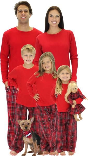 SleepytimePjs family matching plaid pajamas are perfect for the entire  family. Imagine sending out cheerful holiday cards or waking up Christmas  morning in ... 75fe4c963