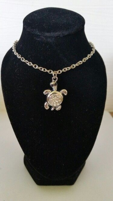 Turtle with clear rhinestones. AUS $ 6.00
