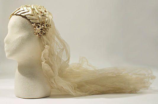 Wedding headpiece, c. 1928. Metropolitan Museum of Art.