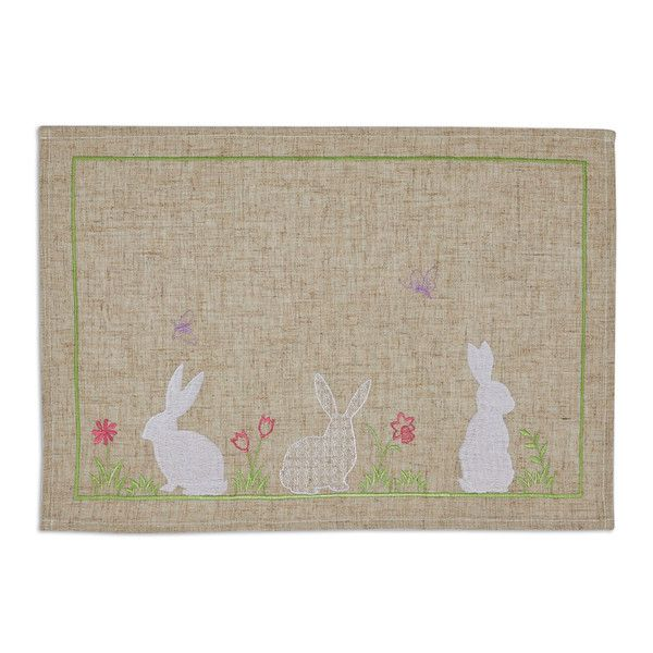 Easter bunny embroidered placemat placemat easter bunny and bunny easter negle Images