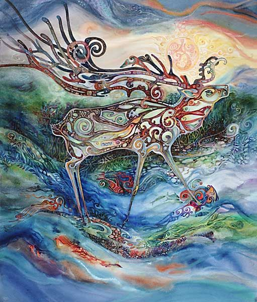 Druids Trees:  Stag, Helena Nelson-Reed.