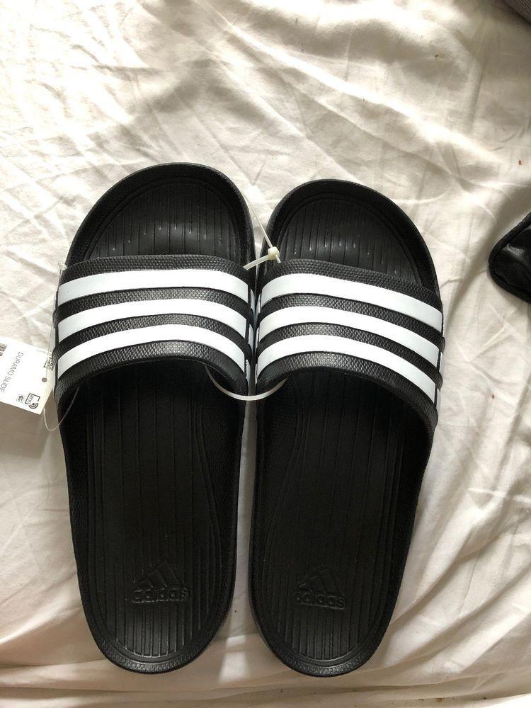 f6e04fd0668 Adidas Duramo Men s Slide Sandals Sz.9 US Black NWT  fashion  clothing   shoes  accessories  mensshoes  sandals (ebay link)