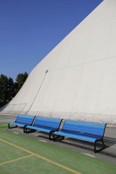 Moko bench | blue rainbow